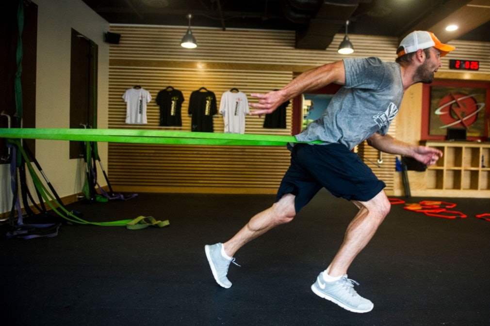 Working out with Wes Welker : Kent Nishimura : Los Angeles, CA